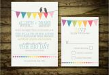 Bunting Wedding Invitation Template Free Rustic Wedding Invitation Set Bunting Flags and by