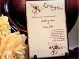 Burgundy and Ivory Wedding Invitations Burgundy Champagne Ivory Wedding Invitation