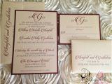 Burgundy and Ivory Wedding Invitations Items Similar to Set Of 100 Elegant Burgundy and Ivory