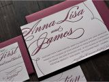 Burgundy themed Wedding Invitations Burgundy and Silver Wedding Invitations