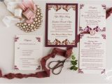 Burgundy themed Wedding Invitations Wedding Invitation Templates Burgundy Wedding Invitations