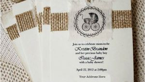Burlap and Lace Baby Shower Invitations Gallery Burlap and Lace Baby Shower Invitations