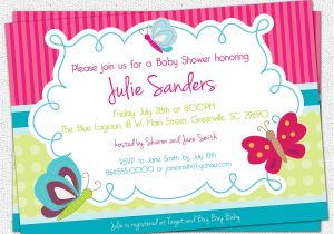 Butterfly Baby Shower Invites butterfly Baby Shower Invitations butterflies Spring