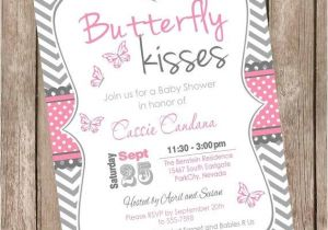 Butterfly Baby Shower Invites butterfly Kisses Baby Shower Invitation butterfly Baby