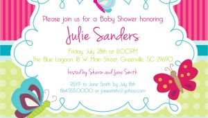 Butterfly Baby Shower Invites Free Design butterfly Baby Shower Invitations