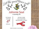 Cajun themed Party Invitations Cajun themed Birthday Party Invitation by Pinkpeonytx On Etsy