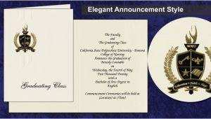 Cal Poly Pomona Graduation Invitations California State Polytechnic University Pomona