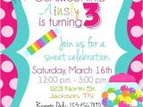 Candy themed Party Invitations Candy themed Birthday Invitations A Birthday Cake