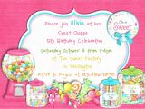 Candy themed Party Invitations Candy themed Birthday Party Invitations Dolanpedia