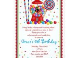 Candy themed Party Invitations Candy themed Birthday Party Invitations Drevio