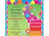 Candy themed Party Invitations Candyland theme Party Invitation Candy