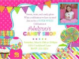 Candy themed Party Invitations Candyland theme Party Invitations A Birthday Cake