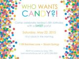 Candy themed Party Invitations Free Printable Candy themed Birthday Party Invitations
