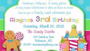 Candyland Birthday Invitation Wording Candyland Invitations Sweet Shop Invitations Sweet Shop