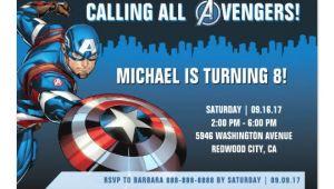 Captain America Birthday Invitation Template Captain America Birthday Invitation Zazzle Com