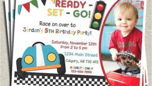 Car themed Birthday Invitation Card Cars theme Birthday Invitation Words orderecigsjuice Info