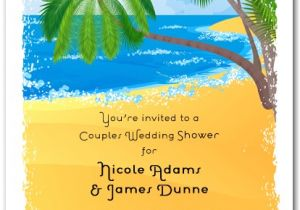Caribbean Party Invitations Palms On the Shore Tropical Invitations Beach Invitations