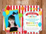 Carnival 1st Birthday Invitations 1000 Images About Backyard Carnival Circus On Pinterest