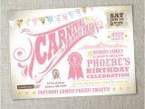 Carnival 1st Birthday Invitations Items Similar to Kids Birthday Party