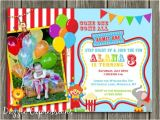 Carnival 1st Birthday Invitations Printable Circus Carnival Birthday Invitation