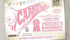 Carnival 1st Birthday Party Invitations Items Similar to Kids Birthday Party