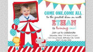 Carnival First Birthday Invitations Circus Birthday Invitation 1st Birthday Circus Party