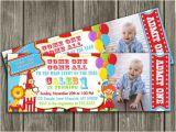 Carnival First Birthday Invitations Circus Carnival Ticket Birthday Invitation Free