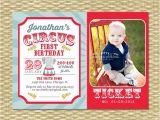 Carnival First Birthday Invitations Circus First Birthday Invitation Circus Birthday Invite