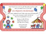 Carnival Party Invitation Wording Kitchen Dining