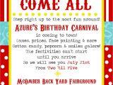 Carnival Party Invitation Wording Simplycumorah Carnival Party Behind the Scenes