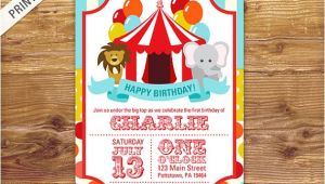 Carnival themed 1st Birthday Party Invitations First Birthday Carnival Invite Circus Invitation Carnival