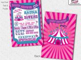 Carnival themed Baby Shower Invitations Baby Shower Carnival Invitations Circus Invitations