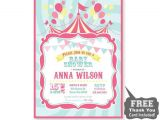 Carnival themed Baby Shower Invitations Circus Baby Shower Invitation Printable From 800canvas