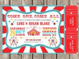 Carnival themed Baby Shower Invitations Vintage Circus Carnival Invitation Baby Shower