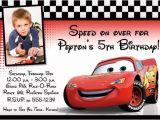 Cars Birthday Invitation Template Free Custom Photo Birthday Invitation Cars Lightning Mcqueen