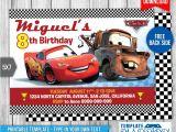 Cars Birthday Invitation Template Free Disney Cars Birthday Invitation 1 by Templatemansion On