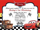 Cars Birthday Party Invitation Templates Free Cars Party Invitation orderecigsjuice Info