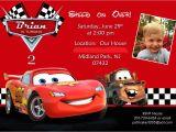 Cars Birthday Party Invitation Templates Free Disney Cars Birthday Invitations Disney Cars Birthday