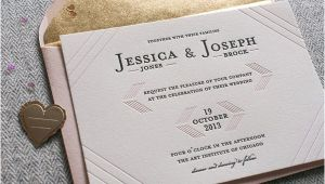 Cash Preferred Wedding Invitation Modern Linear Letterpress Wedding Invitations Invitation