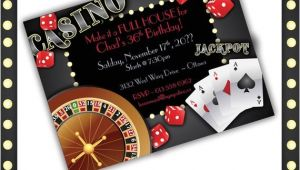 Casino theme Party Invitations Template Free Casino Invitations Casino Night Casino Birthday