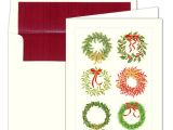 Caspari Christmas Party Invitations Caspari Christmas Wreaths Foil Christmas Cards Paperstyle