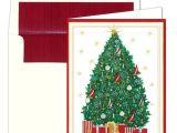 Caspari Christmas Party Invitations Caspari Nautical Tree Personalized Christmas Cards