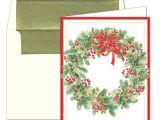 Caspari Christmas Party Invitations Caspari Personalized Wintergreen Wreath Christmas Cards