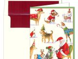 Caspari Christmas Party Invitations Caspari Waiting for Santa Christmas Cards Paperstyle