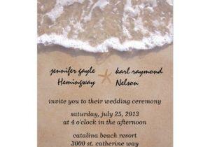 Casual Beach Wedding Invitation Wording Casual Beach theme Wedding Invitation Zazzle Com