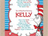 Cat In the Hat Baby Shower Invites Cat In the Hat Baby Shower Invitation Dr Seuss Baby Shower