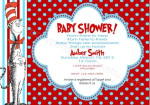 Cat In the Hat Baby Shower Invites Cat In the Hat Baby Shower Invitations