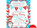 Cat In the Hat Baby Shower Invites Dr Seuss Baby Shower Invitation Card Cat In the Hat Baby
