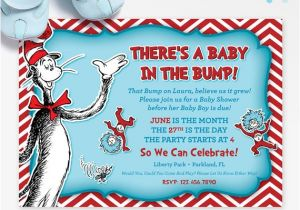 Cat In the Hat Baby Shower Invites Dr Seuss Baby Shower Invitation Cat In the Hat by