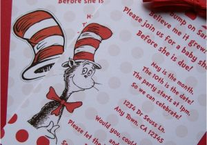 Cat In the Hat Baby Shower Invites Dr Seuss Cat In the Hat Baby Shower or Birthday Invitation